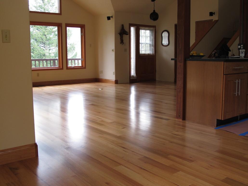 how to finish a sand hardwood floor