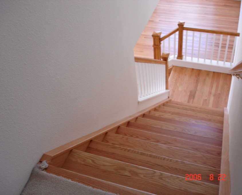 contemporary floor oak