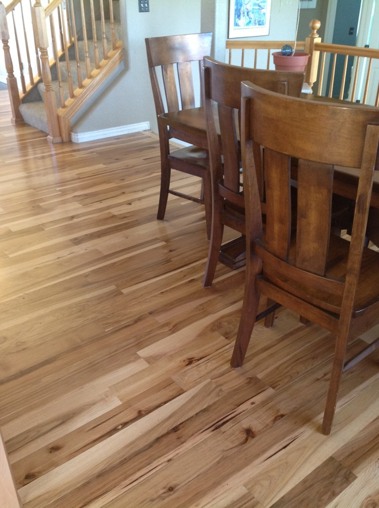 Different Hickory Floors We Installed Sanded Amp Finished