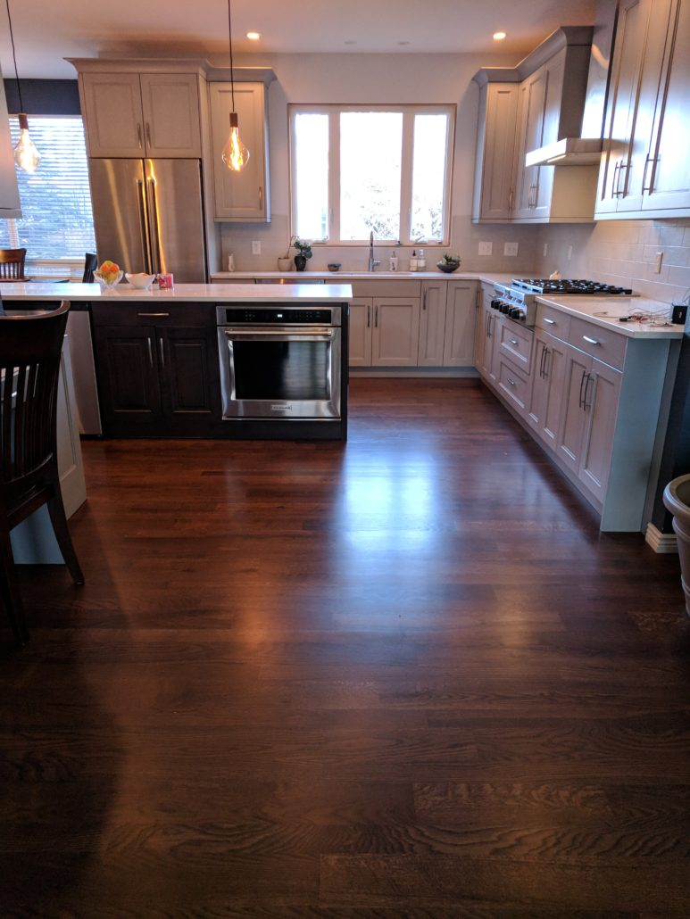 Medium Brown Stained White Oak Floors